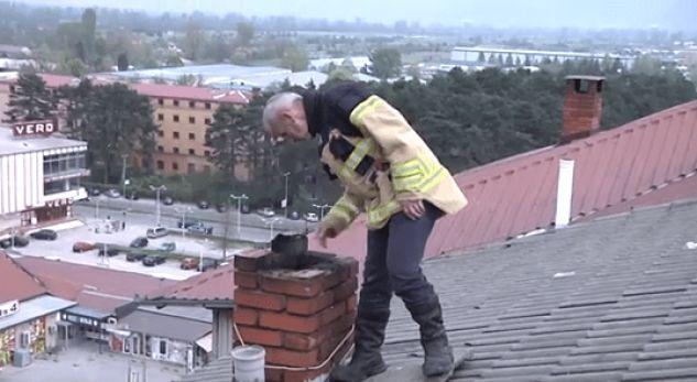 Në këtë qytet të Maqedonisë shpërthen zjarri në një ndërtesë, evakuohen banorët (VIDEO)