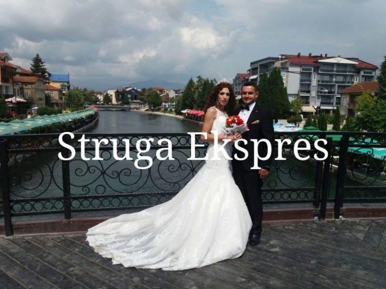 Nga ura e Naser Hanit në Strugë, çifti shqiptar shijon ditët e para të martesës (FOTO)