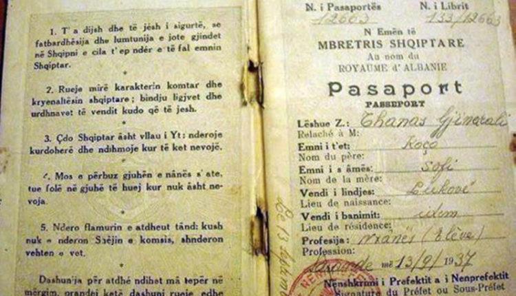 Pasaporta në kohën e Zogut: Çdo shqiptar asht vëllau yt (FOTO)