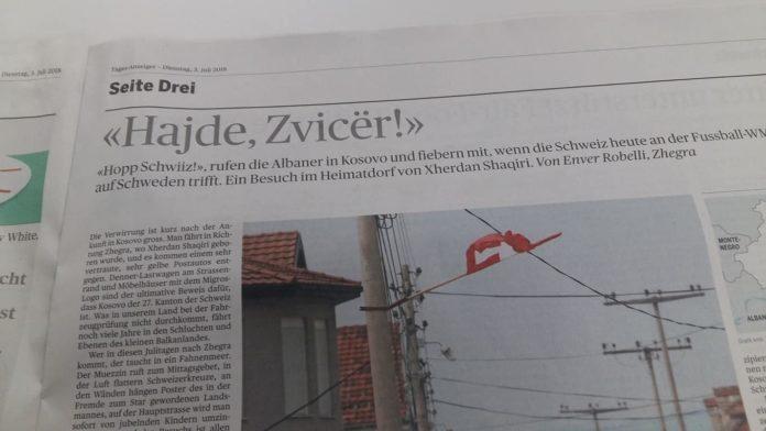 """""""Hajde Zvicër"""", gazeta zvicerane me titull shqip para ndeshjes Zvicër-Suedi"""