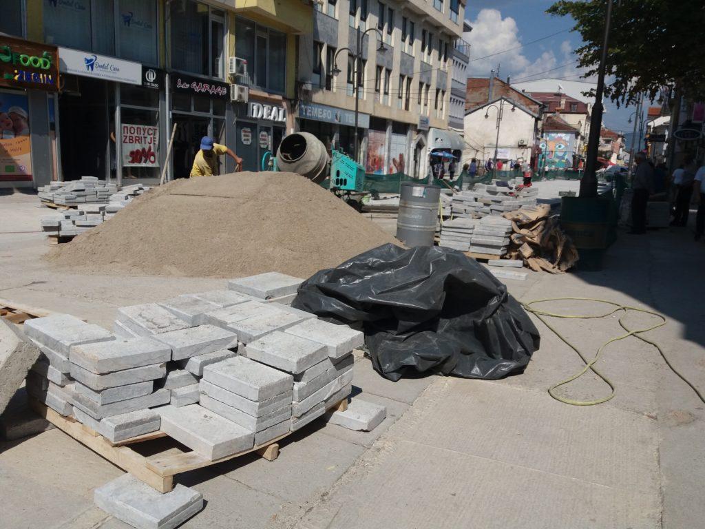 Bulevardi i ri në Strugë po ndërtohet (FOTO)