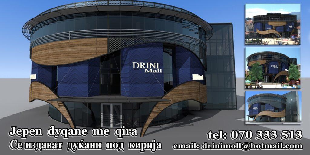 """Qendra Tregtare """"DRINI MALL"""" vjen me pamje fantastike dhe standarde evropiane në zemër të Strugës .Ju ofron dyqanet me qera, rezervo tani (FOTO)"""