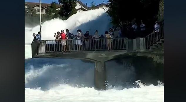 Ujëvara e pabesueshme në Zvicër që ka mahnitur botën (VIDEO)