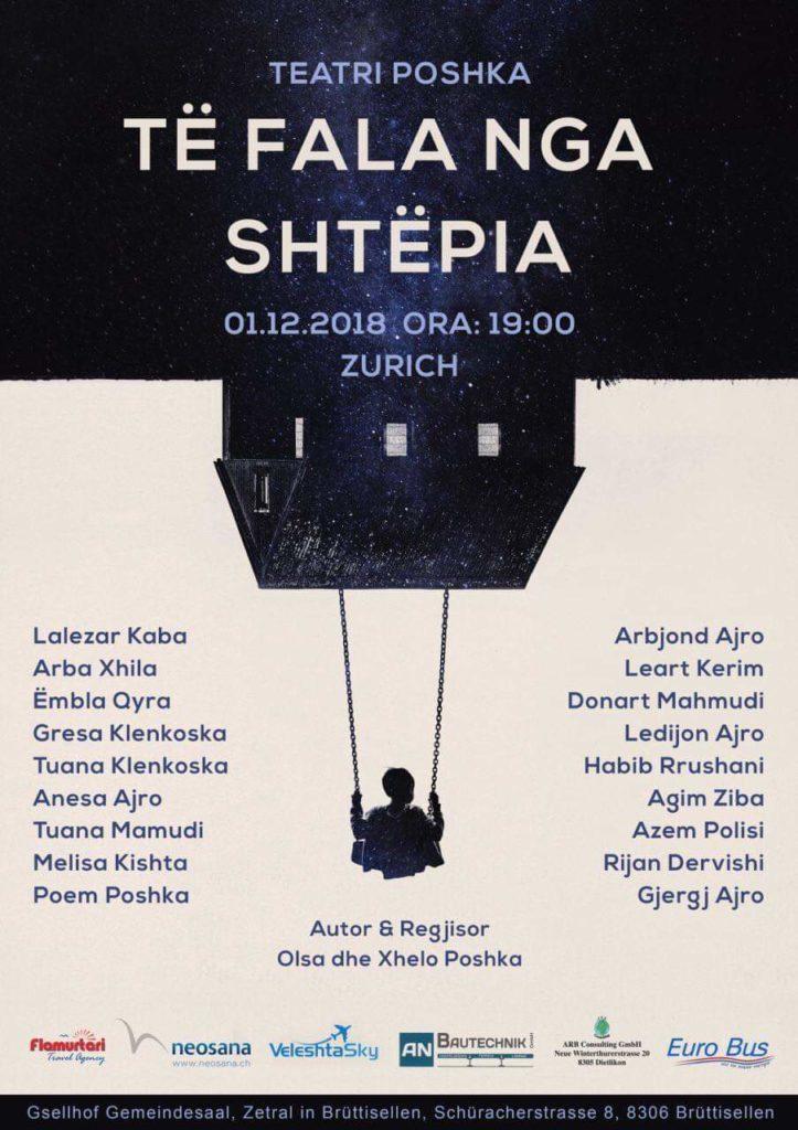 """Të shtunën në Zurich të Zvicrës, teatri Poshka jep shfaqen """"Të fala nga shtëpia"""" (FOTO)"""