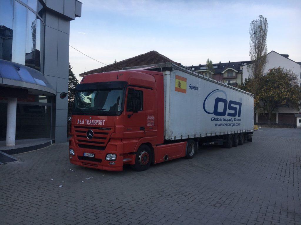 """Me """"A&A TRANSPORT""""- Strugë, gjithmonë i transportoni mallrat nga Zvicra në Maqedoni! Shpejtë, Saktë dhe Sigurt (FOTO)"""