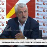 Thaçi: As edhe 1% nuk ka shansa të humb Pendarovski, shqiptarët nuk kanë vota për VMRO-në ( VIDEO)