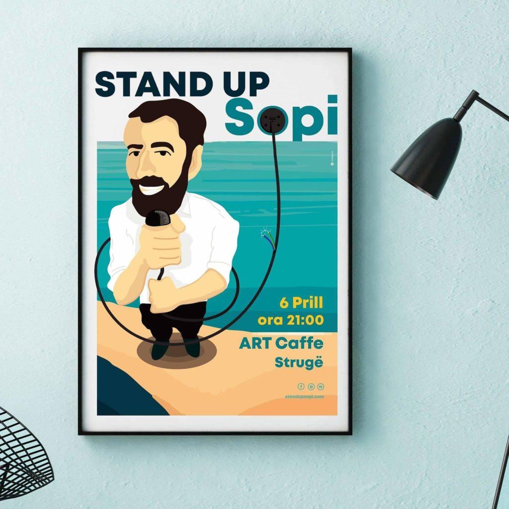 """Të shtunën, aktori i humorit Hasim Memishi-SOPI me """"STAND UP"""" komedi në Art Caffe-Strugë (FOTO)"""
