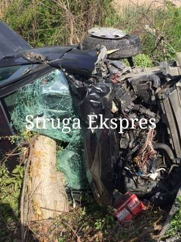 37 vjeçarja aksidentohet rëndë në rrugën Strugë-Ohër! Ja çfarë thonë nga policia (FOTO)
