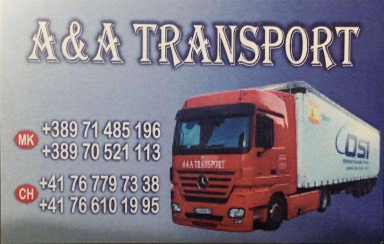 """Me """"A&A TRANSPORT""""- Strugë, transportoni mallrat nga Zvicra në Maqedoni! Shpejtë, Saktë dhe Sigurt (FOTO)"""