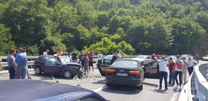 Aksident i rëndë në Strazhë, disa të lënduar
