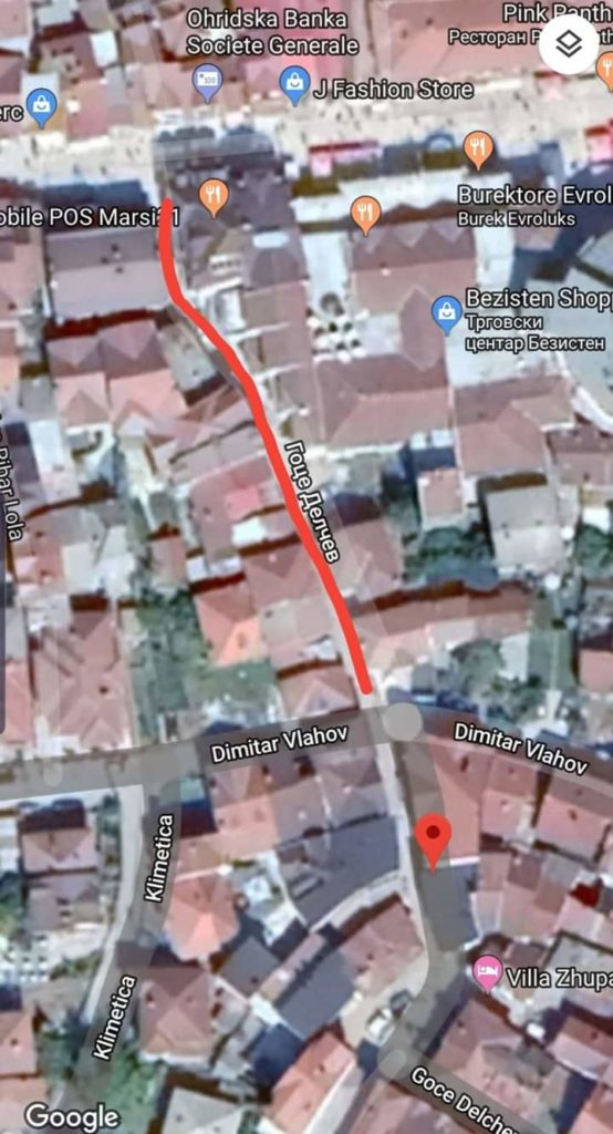 "Komuna e Strugës: Investimi i rradhës, rekonstruimi i rrugës ""Goce Delcev"""