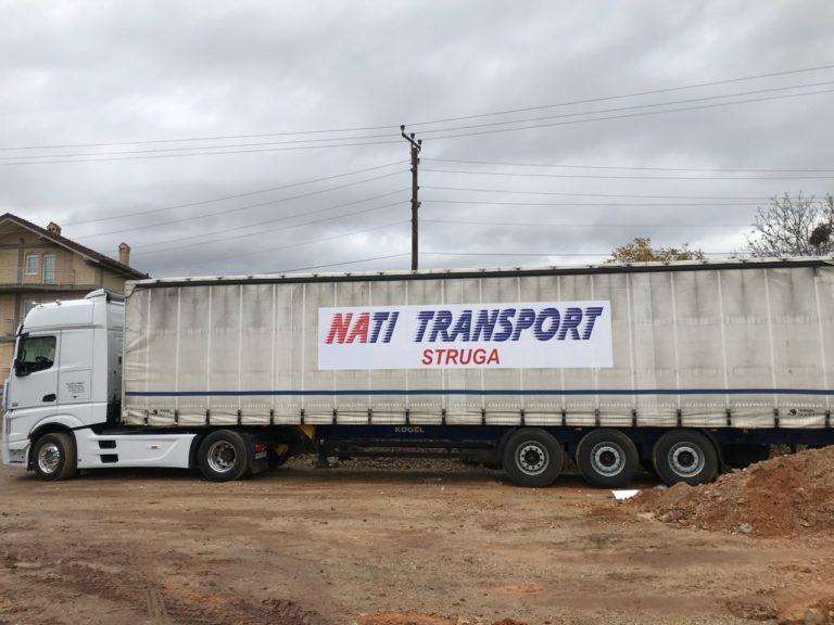 NATI TRANSPORT-Strugë, të gjitha mallrat i transporton nga Zvicra për në Maqedoni dhe anasjelltas (FOTO)