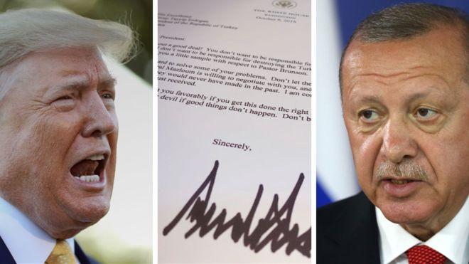 Erdogan e hedh në mbeturina letrën e Trampit
