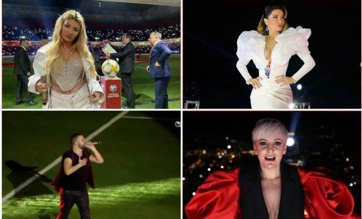 Performancat e këngëtareve zhgënjejnë shqiptarët në hapjen e stadiumit të ri