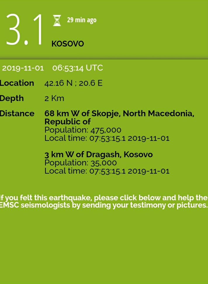 Tërmet në Kosovë (FOTO)