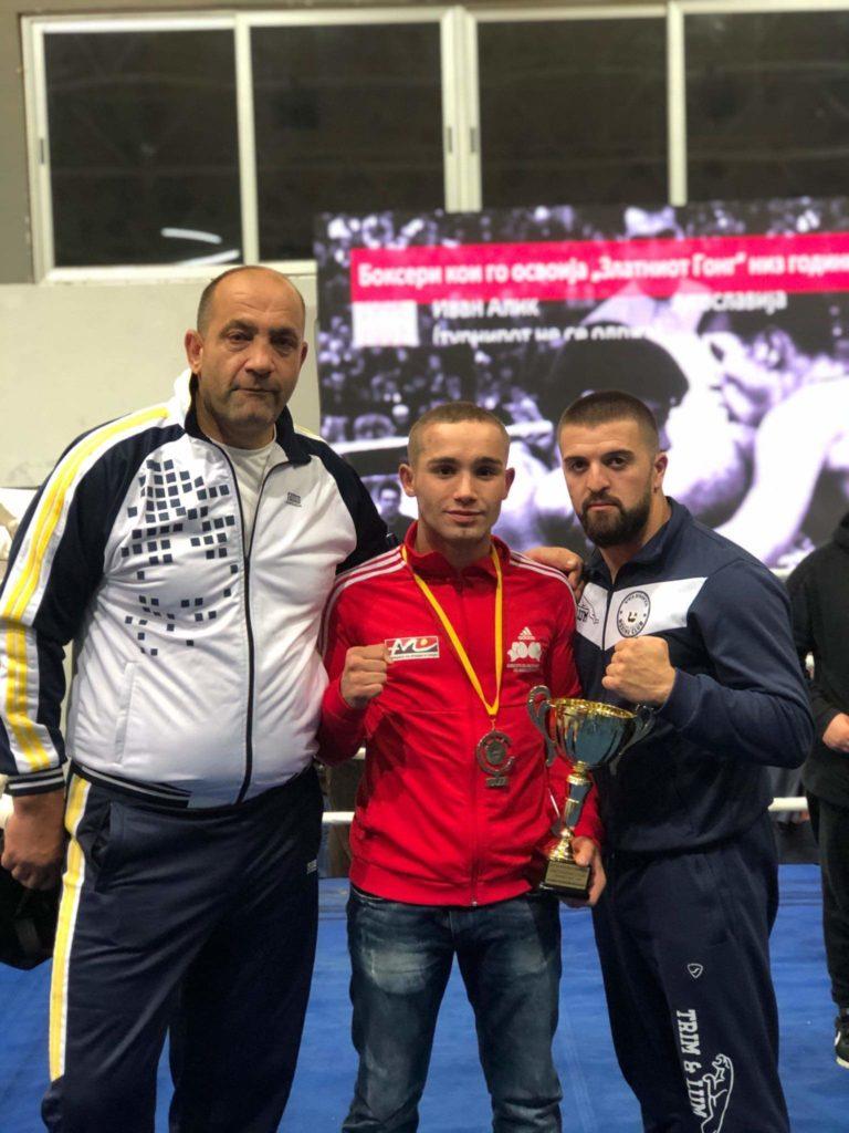 """Veleshtari Alim Nasufi: Boksieri më i mirë i Maqedonisë në """"Gongun e Artë"""" (FOTO)"""