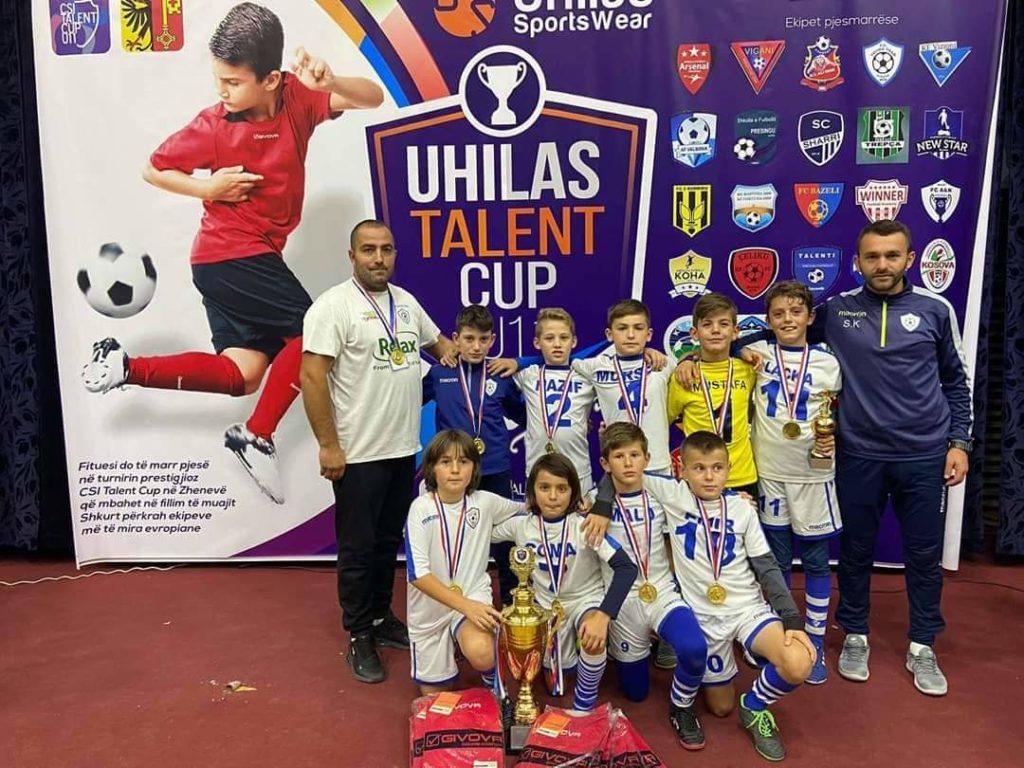 """Fituesi i edicionit të 4-të të Uhilas Talent Cup është  """"YOUNG TEAM""""-Strugë (FOTO)"""
