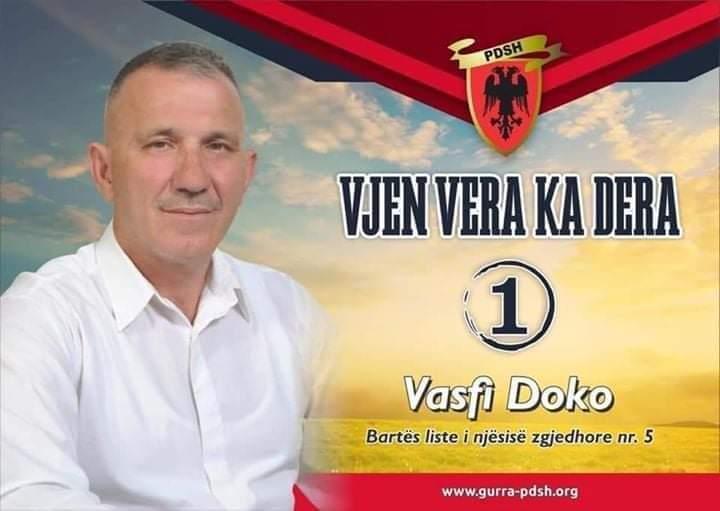 Vasfi Doko, bartës i listës për deputet të PDSH-së në zonën numër 5, nesër do të vizitoj Dollnenin