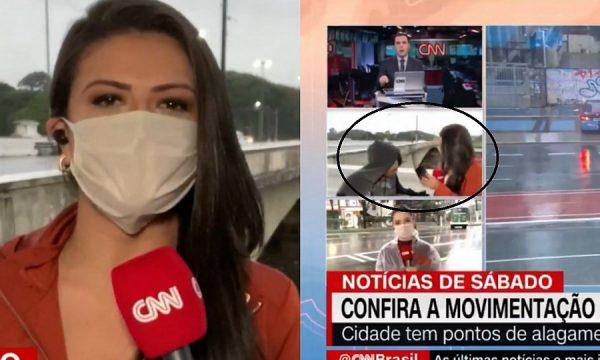 Momenti tmerrues kur gazetarja plaçkitet gjatë transmetimit 'live' duke ia drejtuar thikën (VIDEO)