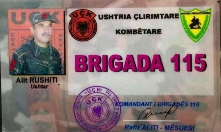 Ka ndërruar jetë ish ushtari i brigadës 115 nga Tetova, Alit Rushiti