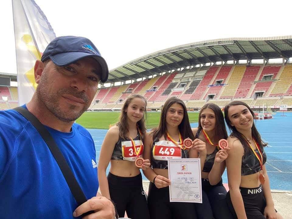 """Vajzat e K. A """"Drini""""- Strugë,shkëlqyen në Kampionatin Shtetëror në Atletikë (FOTO)"""