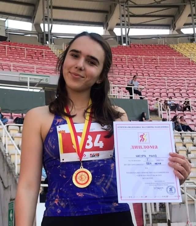 Natyra Malo nga Ladorishti shpallet kampione e Maqedonisë në atletikë (FOTO)