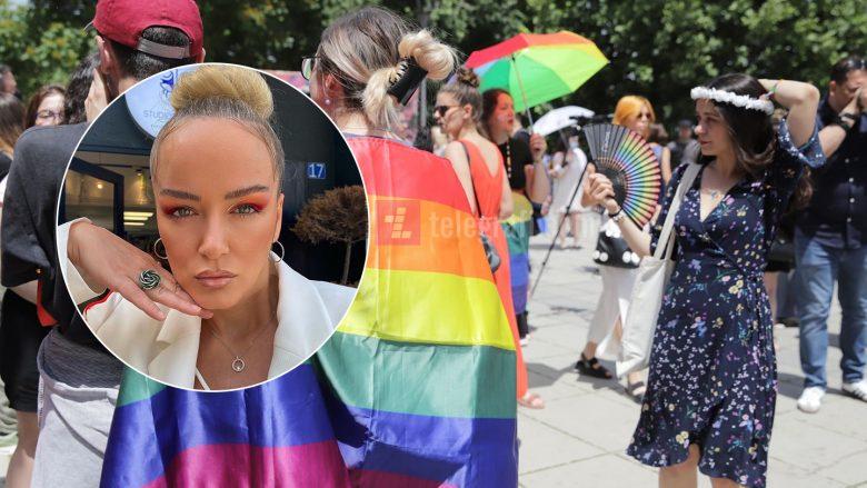 """Deputetja e VV-së, Adriana Matoshi në shesh për të mbështetur paradën e LGBTI-së, """"Bashkë dhe krenarë"""""""