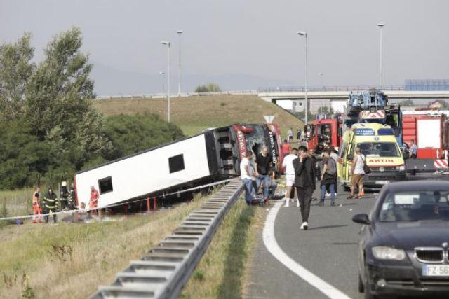 """""""Thërret Prizreni mori Shkodër"""", pamje nga atmosfera në autobus para se të ndodhte aksidenti tragjik në Kroaci (VIDEO)"""